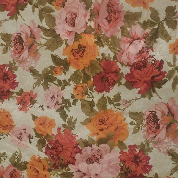 Vintage Floral Fabric 14  YARDS